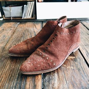 Free People Aquarian suede ankle boots, size 8
